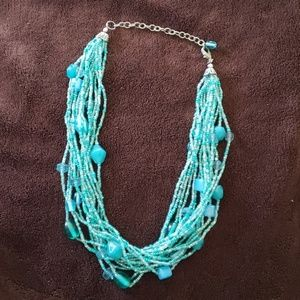 Park Lane retired teal beaded necklace